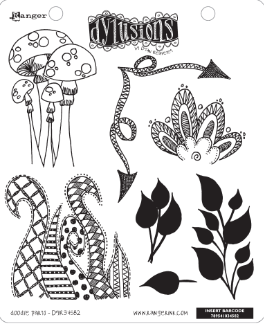 Dylusions - Rubber Stamps - Doodle Parts