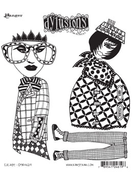Dylusions - Rubber Stamps - Escape