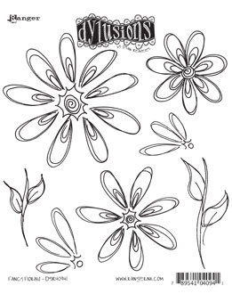 Dylusions - Rubber Stamps - Fancy Florals