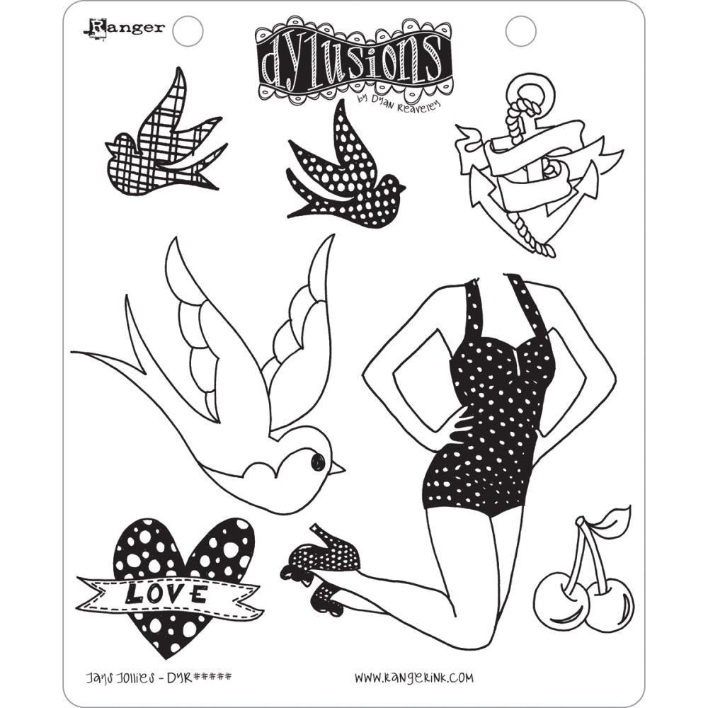 Dylusions - Rubber Stamps - Jay's Jollie