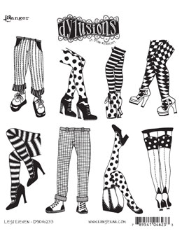 Dylusions - Rubber Stamps - Legs Eleven