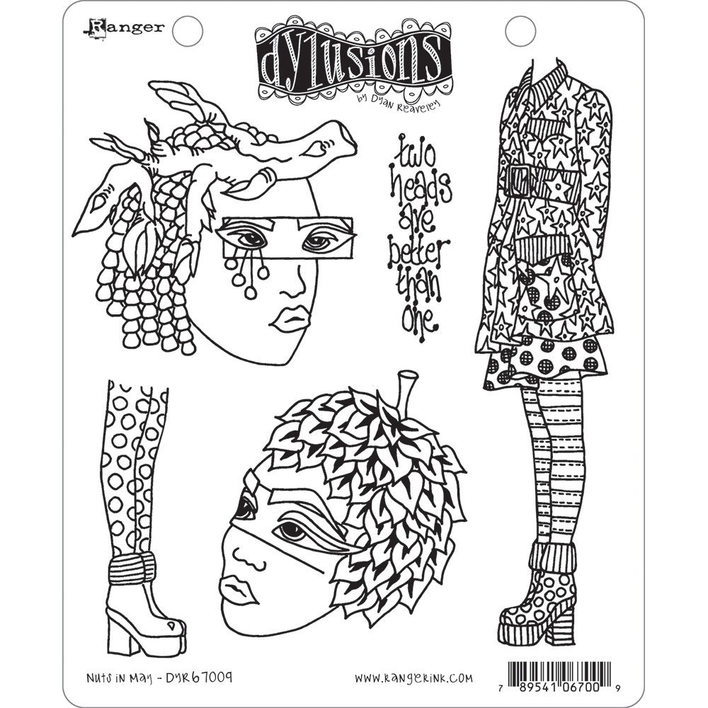 Dylusions - Rubber Stamps - Nuts in May