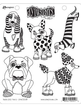 Dylusions - Rubber Stamps - Puppy Dog Tales