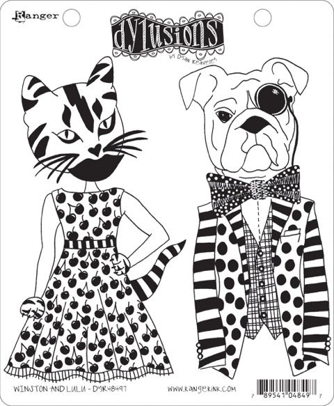 Dylusions - Rubber Stamps - Winston & Lulu