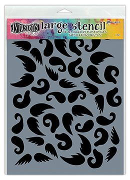 "Dylusions - Stencil - 9x12"" Stash of Tache"