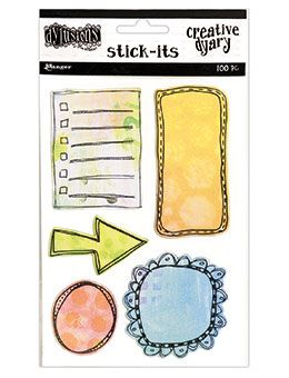 Dylusions - The Dyary Collection - Creative Dyary Stick Its