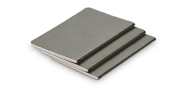 Lamy - Booklets - A6 Silver Grey set of 3