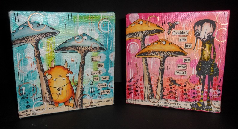 Mini Box Canvases with Kate Crane