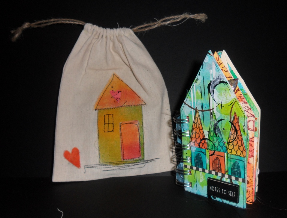 Mini House Journal in mini tote bag by Kate Crane