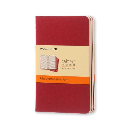 Moleskine - Cahier - Pocket - Cranberry Red (ruled)