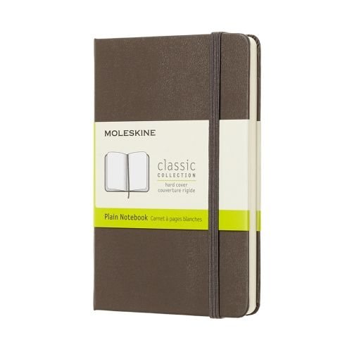 Moleskine - Classic Notebook - Pocket Hardcover - Earth Brown (plain)