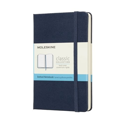 Moleskine - Classic Notebook - Pocket Hardcover - Sapphire Blue (dotted)