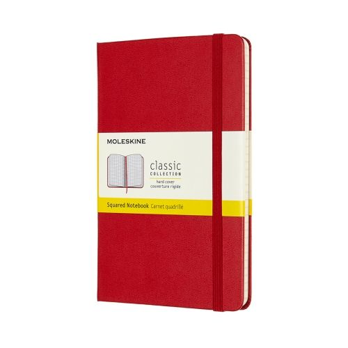 Moleskine - Classic Notebook - Pocket Hardcover - Scarlett Red (squared)