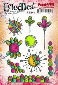PaperArtsy - Rubber Stamps - E³ Tracy Scott 01 (A5 set, trimmed, on EZ)