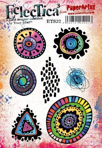PaperArtsy - Rubber Stamps - E³ Tracy Scott 32  (A5 set, trimmed, on EZ)