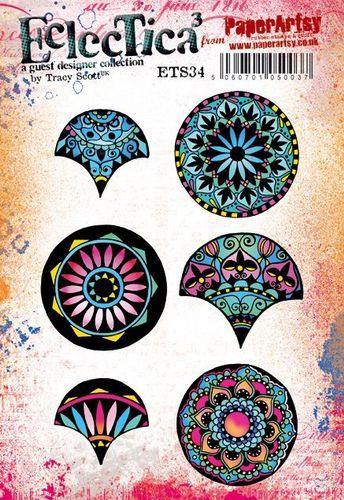 PaperArtsy - Rubber Stamps - E³ Tracy Scott 34  (A5 set, trimmed, on EZ)