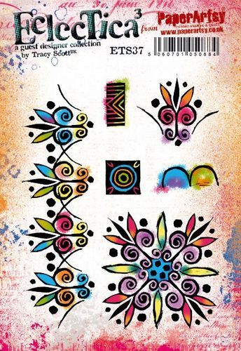 PaperArtsy - Rubber Stamps - E³ Tracy Scott 37  (A5 set, trimmed, on EZ)