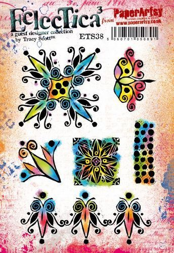 PaperArtsy - Rubber Stamps - E³ Tracy Scott 38  (A5 set, trimmed, on EZ)