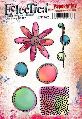 PaperArtsy - Rubber Stamps - E³ Tracy Scott 42  (A5 set, trimmed, on EZ)