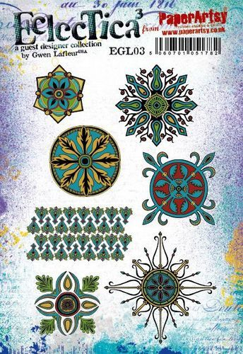 PaperArtsy - Rubbers Stamps - E³ Gwen Lefleur 03 (A5 set, trimmed, on EZ)