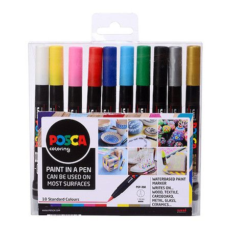 Posca Set - PCF-350 10pc Brush