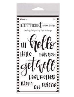 Ranger - Letter It - Clear Stamps - Greetings
