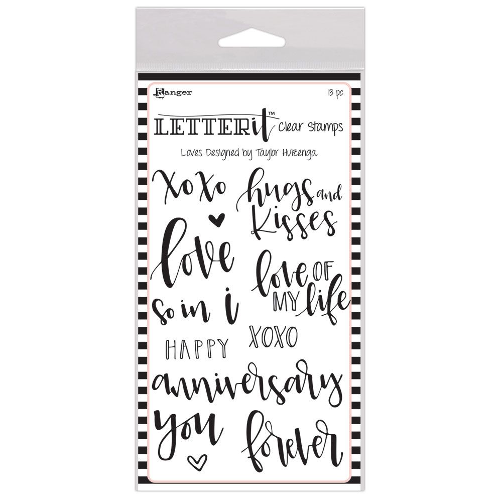 Ranger - Letter It - Clear Stamps - Loves