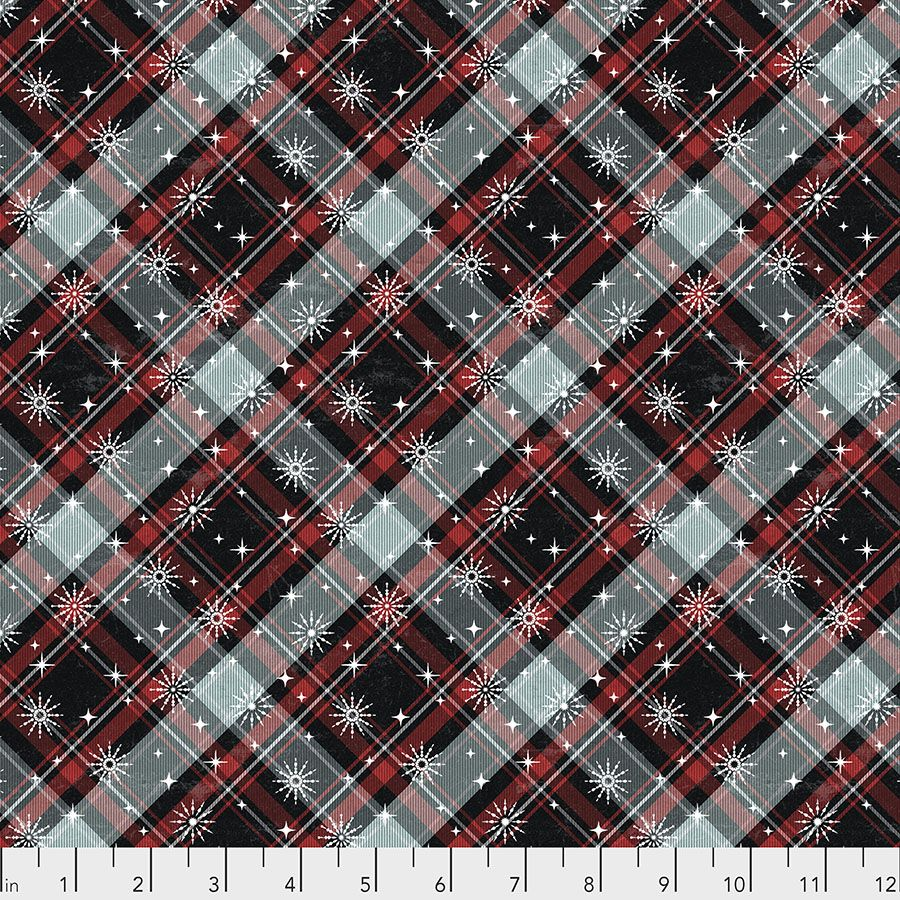Tim Holtz - Eclectic Elements - Yuletide Collection - 50cm - Winter Plaid - Multi
