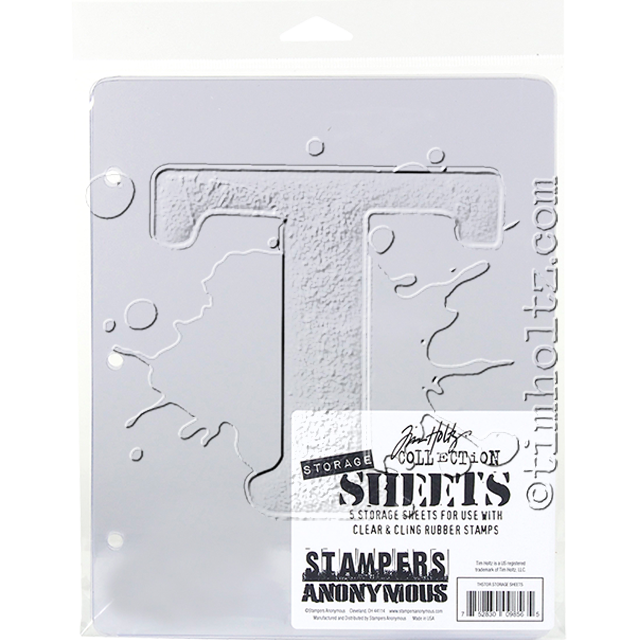 Tim Holtz - Stampers Anonymous - Storage Sheets