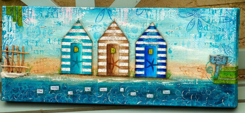 Time Wasted at the Beach Hut Canvas with Michelle